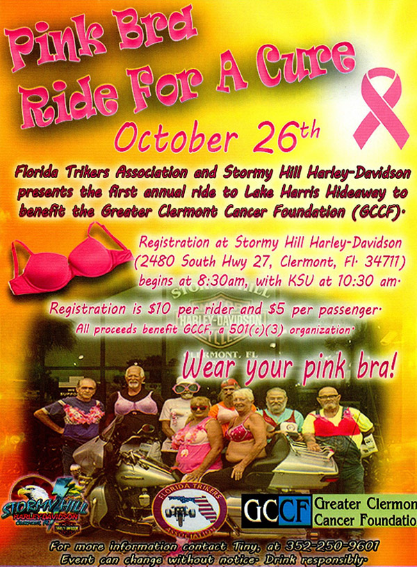 Pink Bra Ride for a Cure @ Story Hill Harley-Davidson